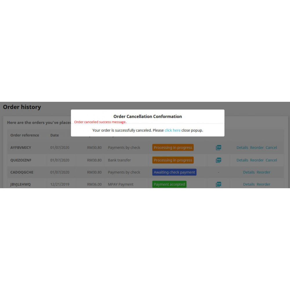 module - Anmeldung und Bestellvorgang - Cancel Order - 7