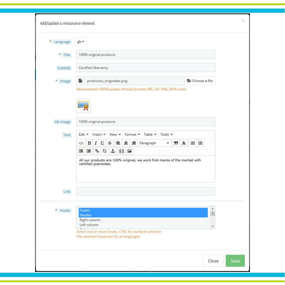 module - Personalización de la página - Añade Múltiples Elementos Confianza Animados - Lottie - 5