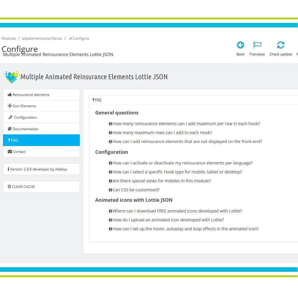 module - Personalización de la página - Añade Múltiples Elementos Confianza Animados - Lottie - 9