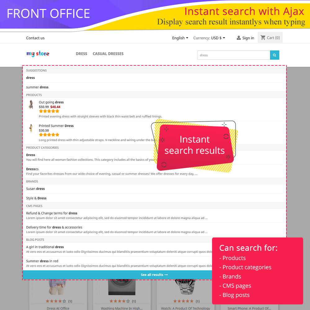 module - Ricerche & Filtri - Total Search Pro: products, categories, CMS and more - 1
