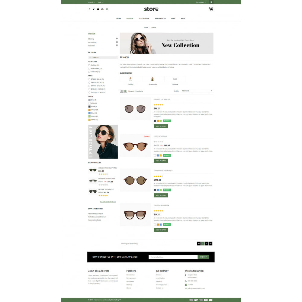 theme - Fashion & Shoes - Eye Glasses Store - 4