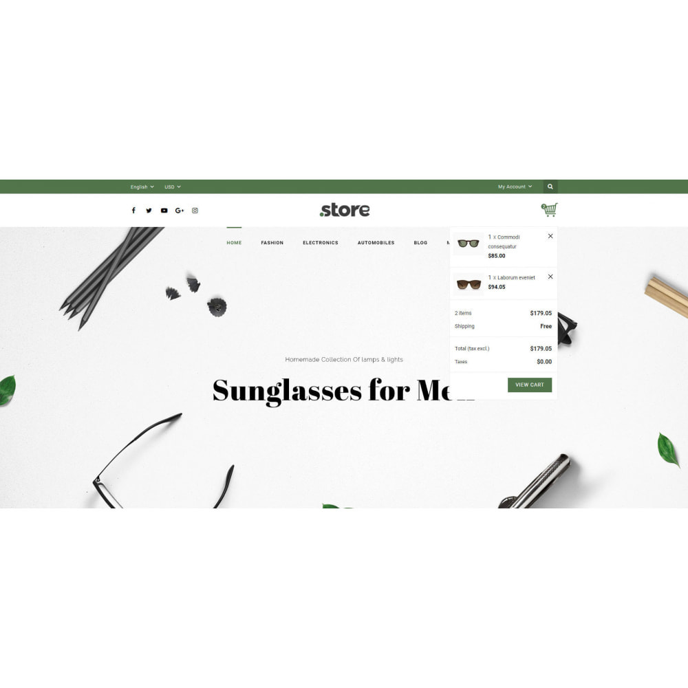 theme - Fashion & Shoes - Eye Glasses Store - 6