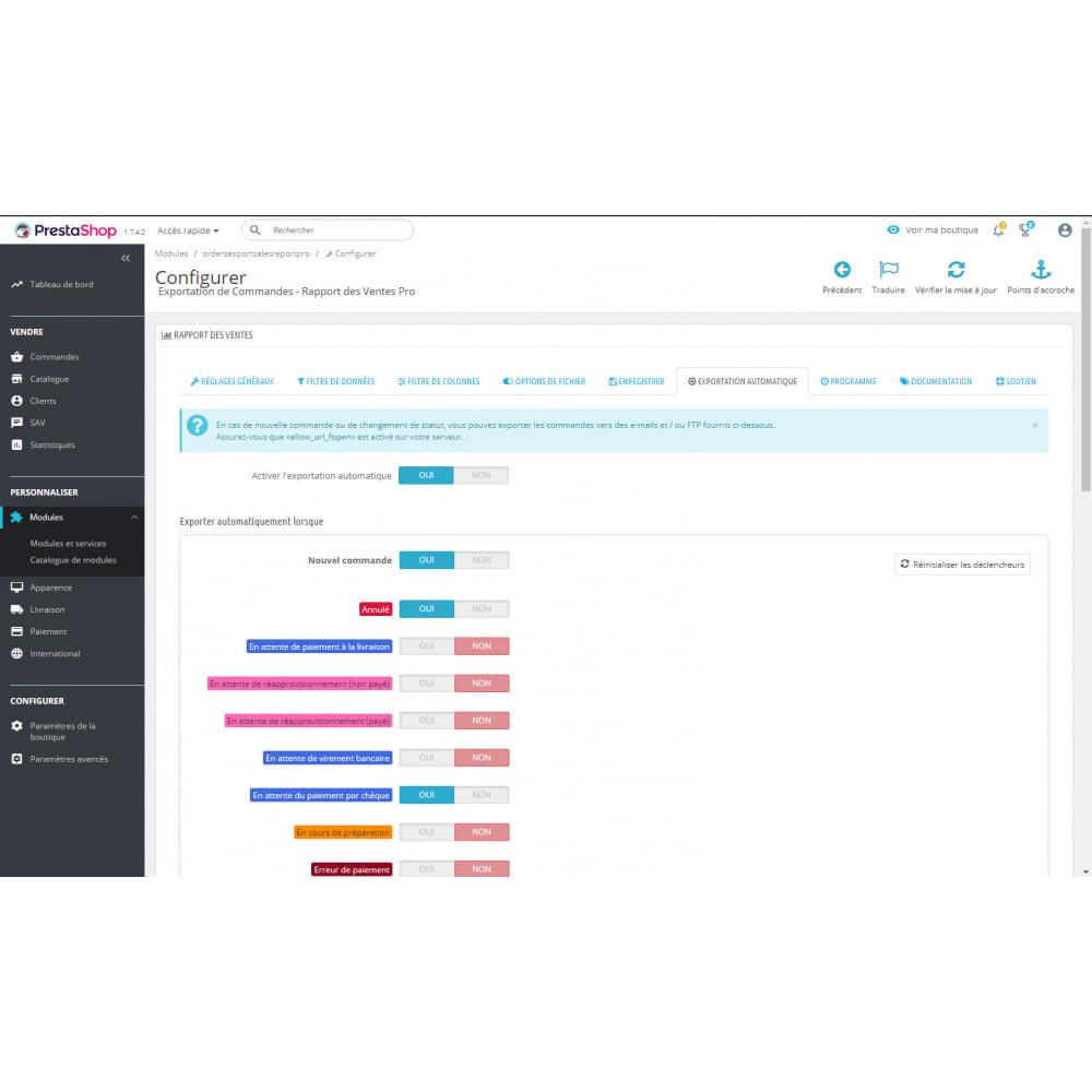 module - Import & Export de données - Exportations & Rapports de Commandes Avancées - 8