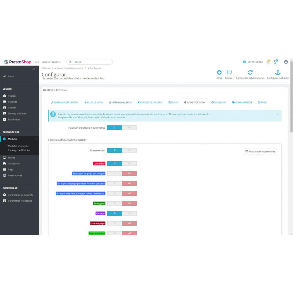 module - Importación y Exportación de datos - Mejores Informes de Ventas y Exportaciones Contables - 8