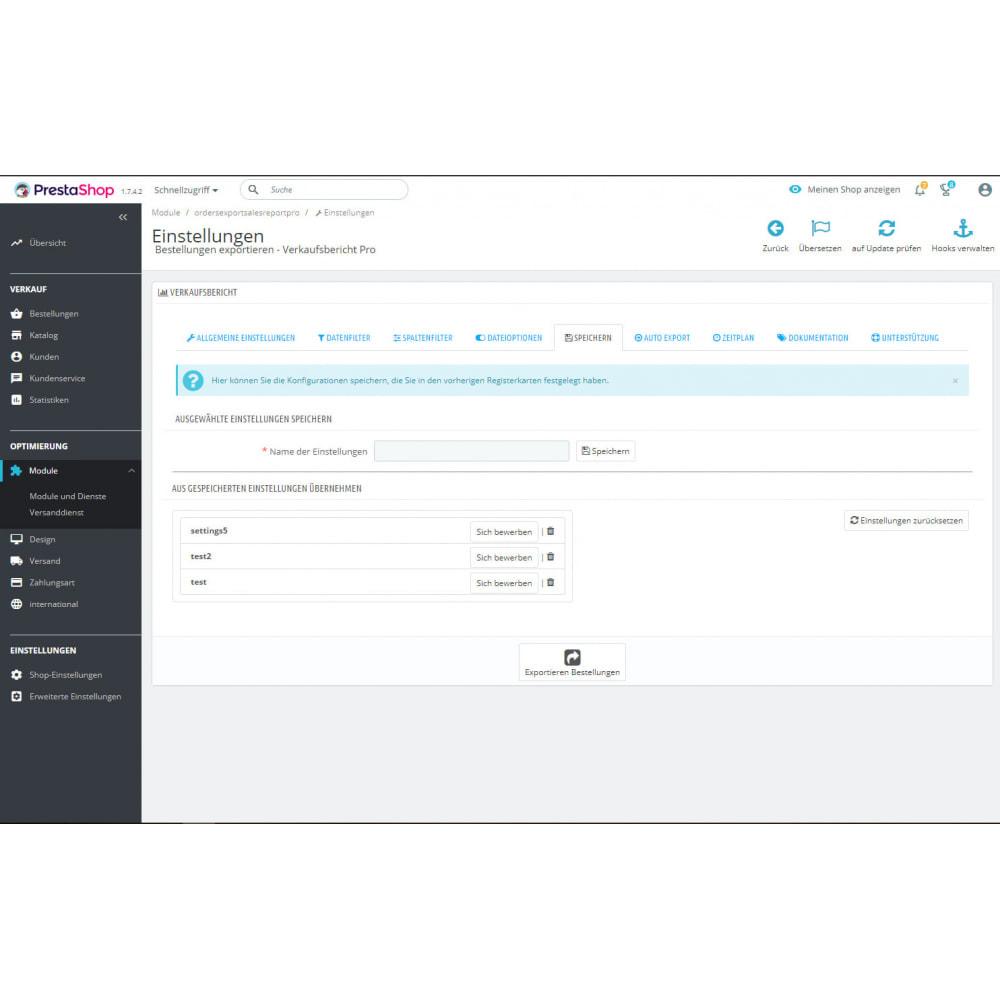 module - Daten Im-&Export - Erweiterte Bestellungen Exporte & Berichte - 7