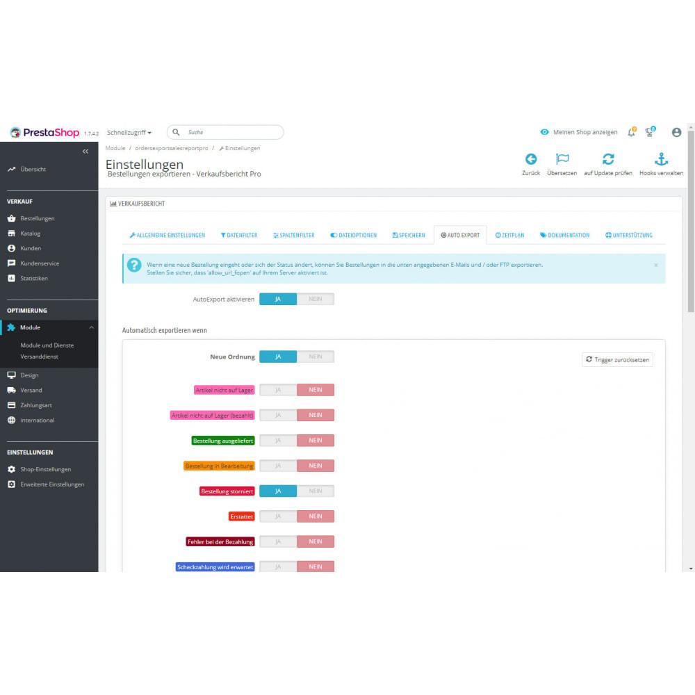 module - Daten Im-&Export - Beste Verkaufsberichte & Buchhaltungsexporte - 8