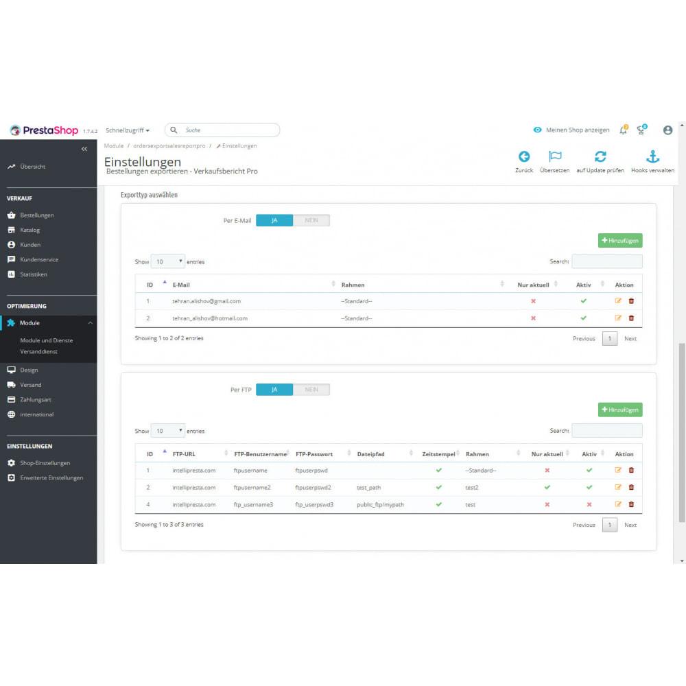 module - Daten Im-&Export - Erweiterte Bestellungen Exporte & Berichte - 9