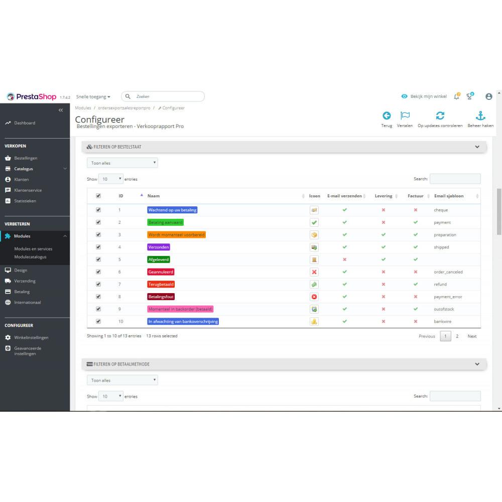 module - Importeren en Exporteren van data - Geavanceerde Export van Bestellingen & Rapporten - 3