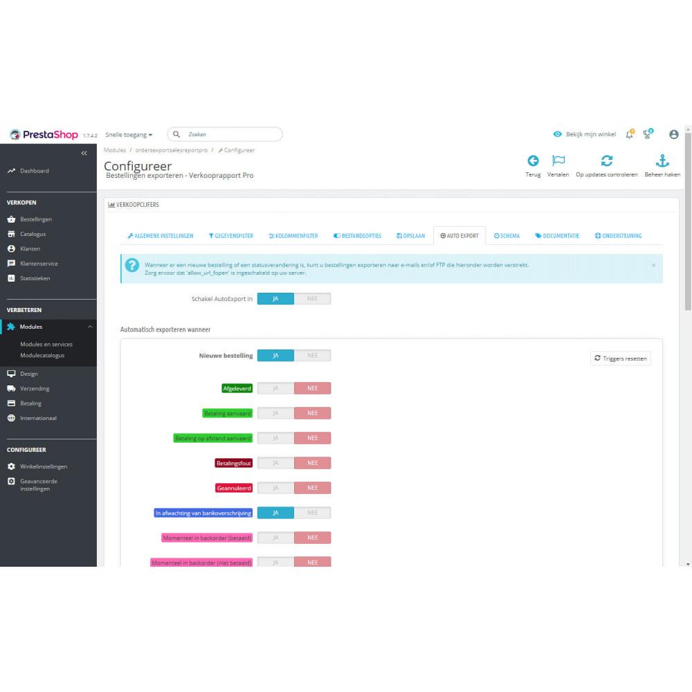 module - Importeren en Exporteren van data - Geavanceerde Export van Bestellingen & Rapporten - 8
