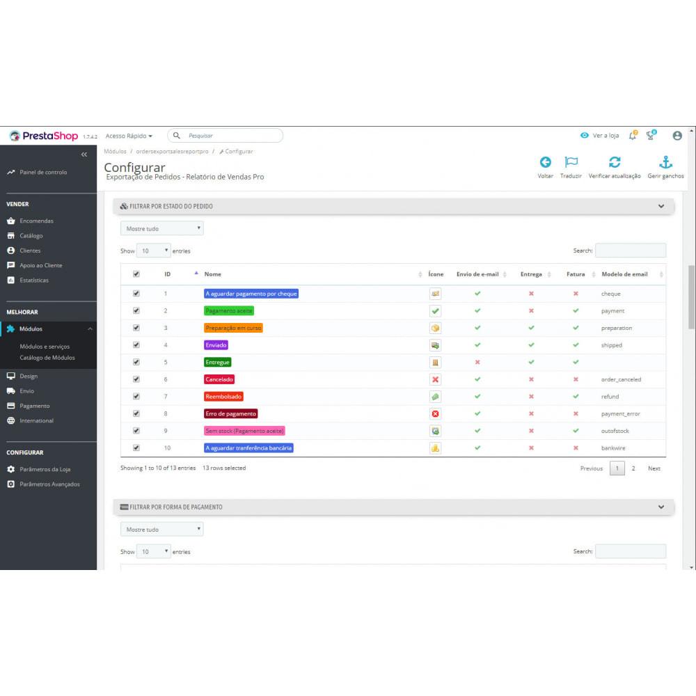 module - Importação & exportação de dados - Exportações e Relatórios de Pedidos Avançados - 3