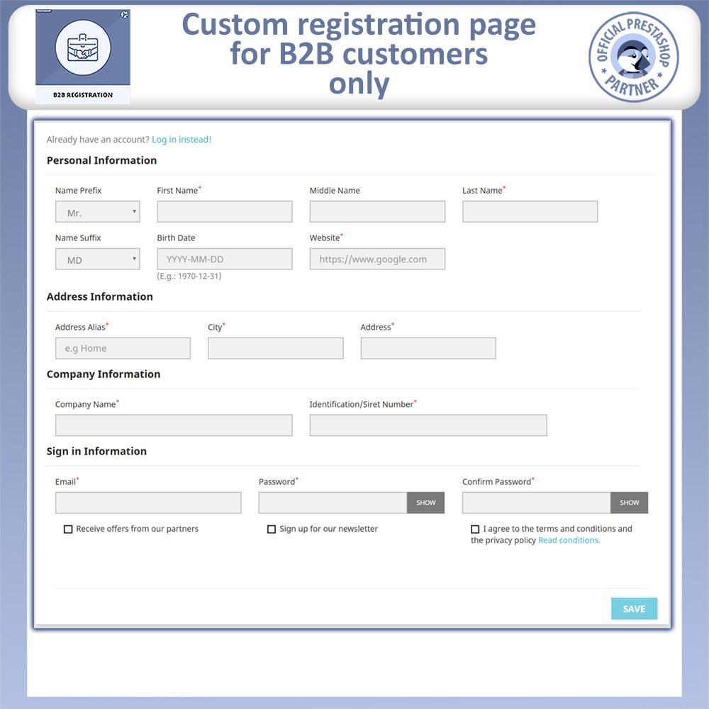module - Registration & Ordering Process - B2B Registration | Advance B2B Registration - 4