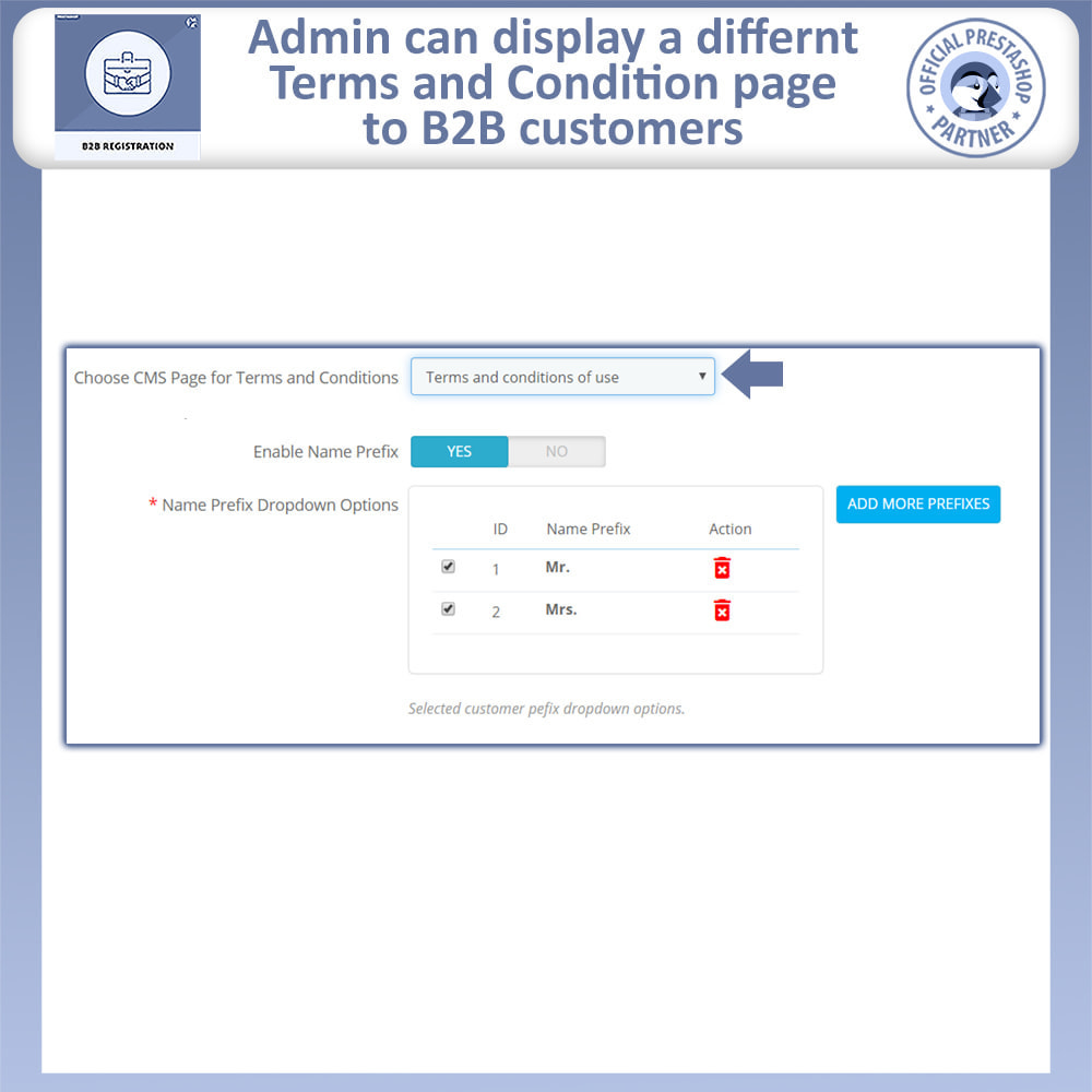 module - Registration & Ordering Process - B2B Registration | Advance B2B Registration - 10