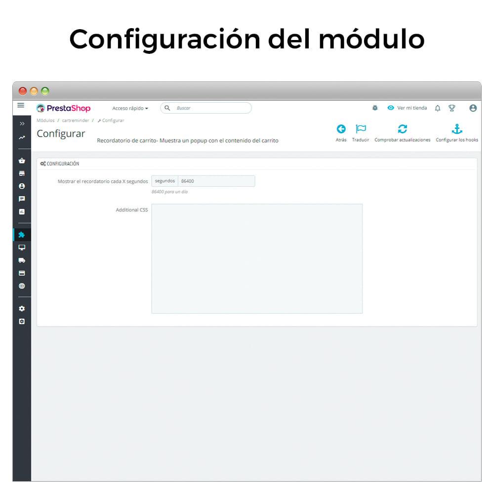 module - Remarketing y Carritos abandonados - Recordatorio de carrito - Popup con el contenido - 7