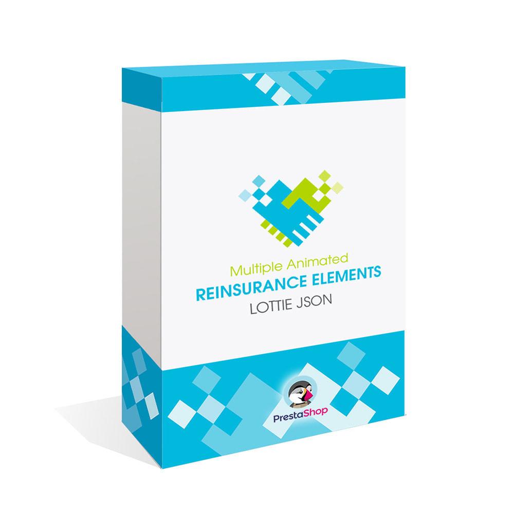 module - Personalización de la página - Añade Múltiples Elementos Confianza Animados - Lottie - 1