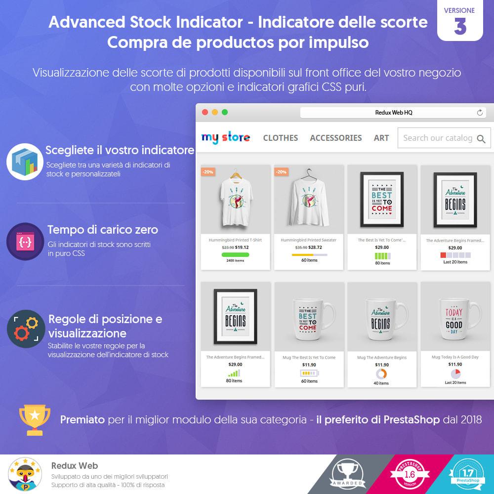 module - Gestione Scorte & Fornitori - Stock Indicator (Dettagli Scorte - acquisto d'impulso) - 1