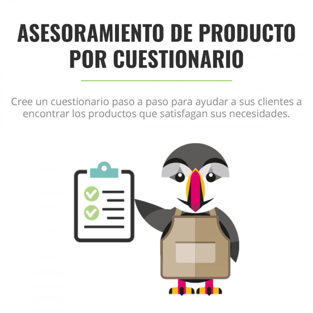 module - Formulario de contacto y Sondeos - Asesoramiento de producto por cuestionario - 1