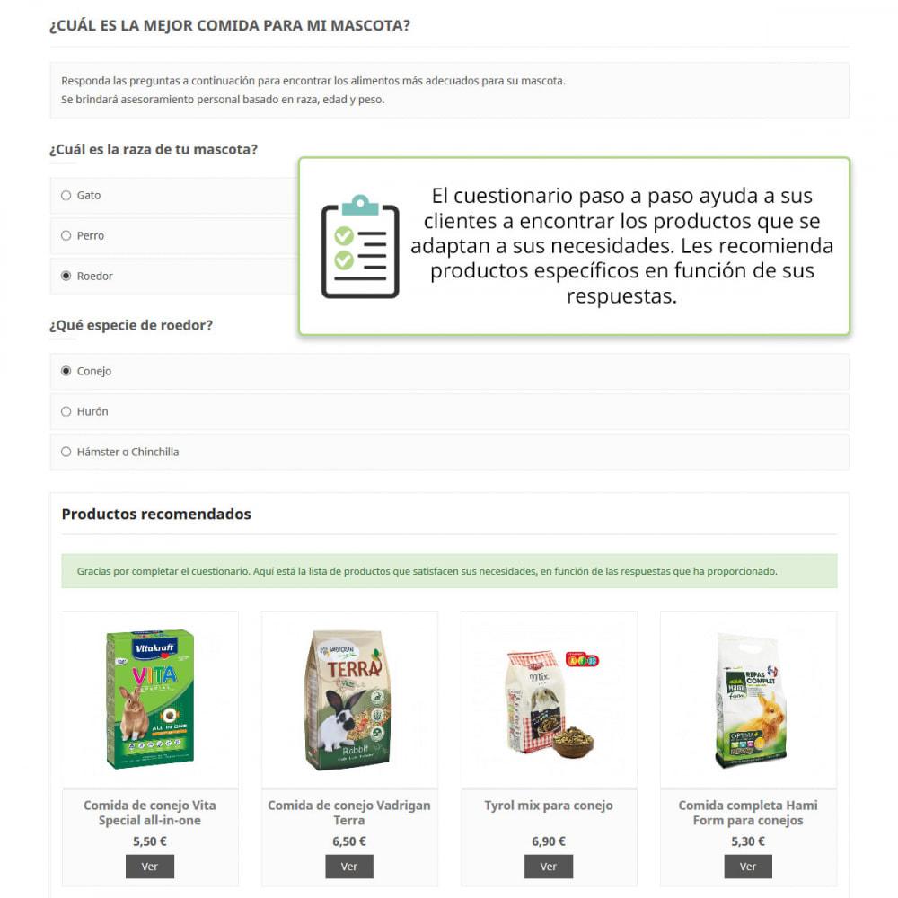 module - Formulario de contacto y Sondeos - Asesoramiento de producto por cuestionario - 2
