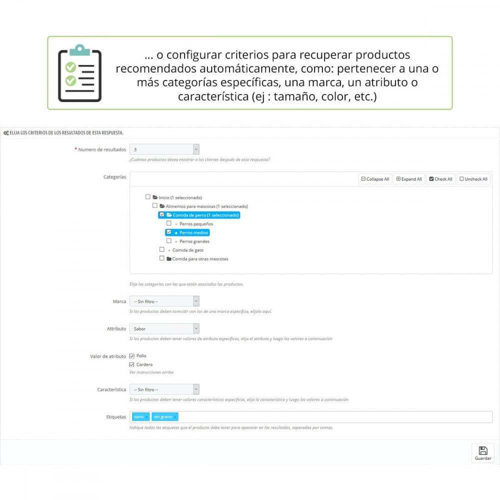 module - Formulario de contacto y Sondeos - Asesoramiento de producto por cuestionario - 5