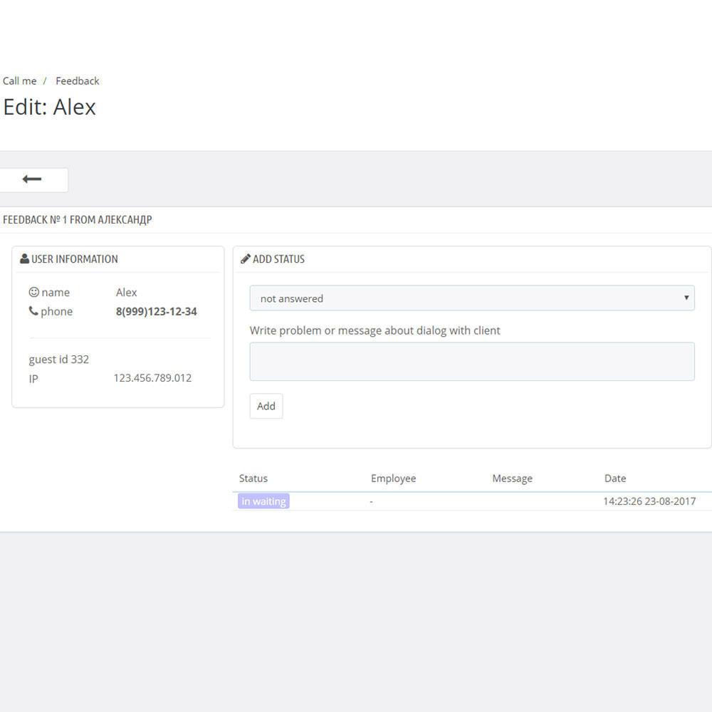module - Wsparcie & Czat online - Zadzwoń do mnie - oddzwoń - 7