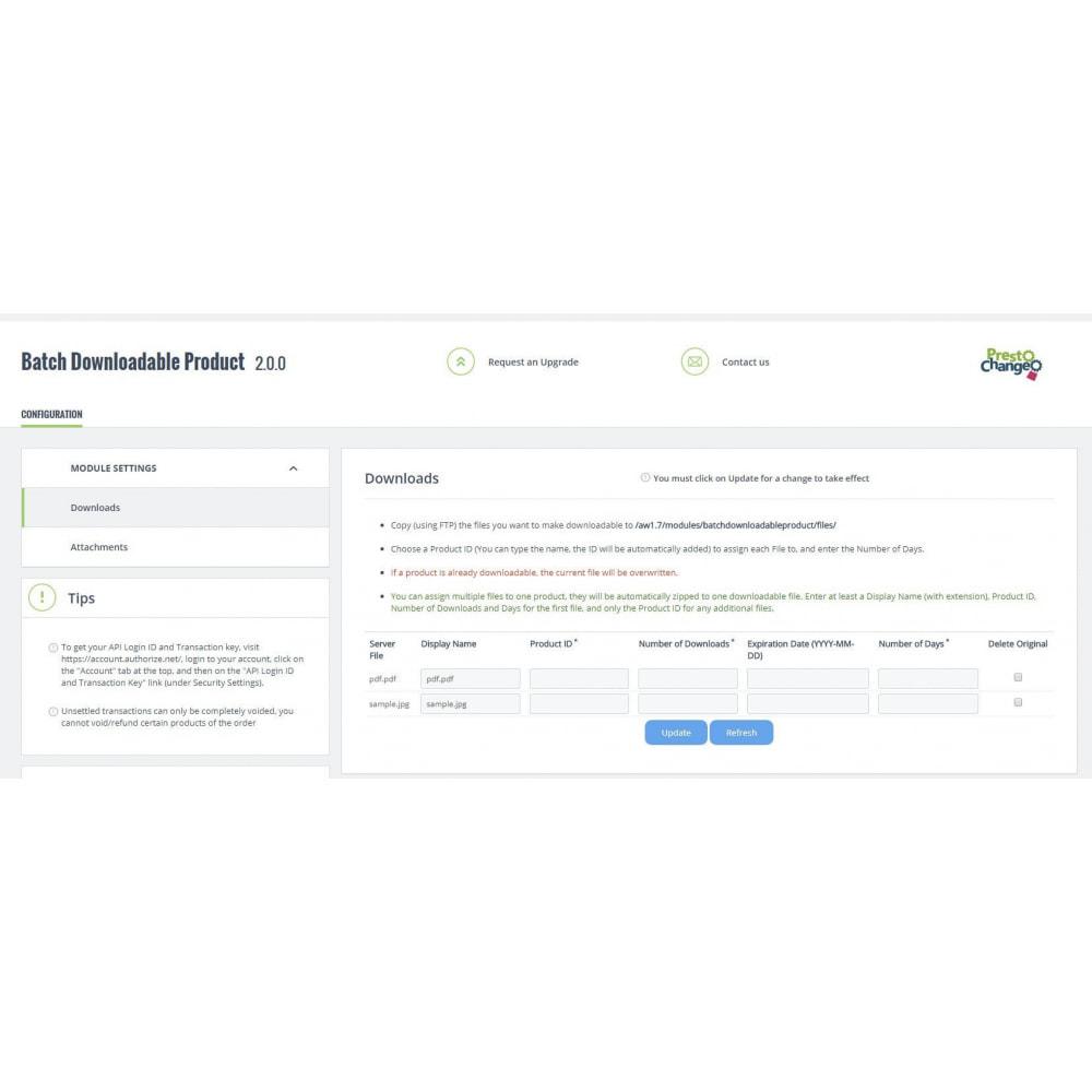 module - Wirtualne produkty - Batch Downloadable Product - 4