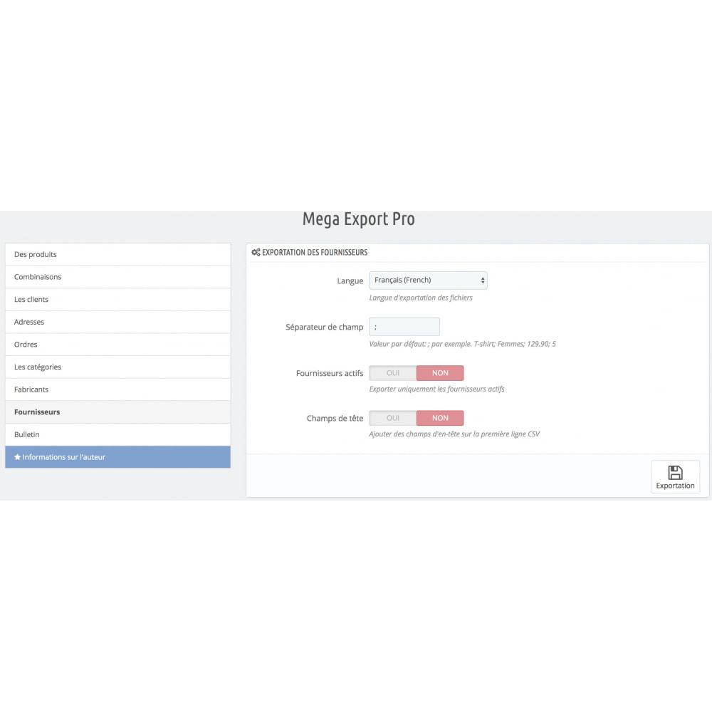 module - Import & Export de données - Mega Export Pro - 10