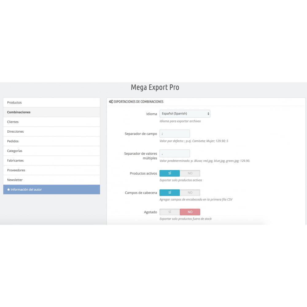 module - Importación y Exportación de datos - Mega Export Pro - 3