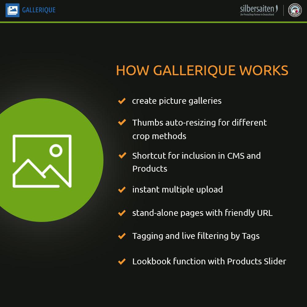 module - Slider & Gallerie - Gallerique - gallerie di immagini con numerosi album - 1