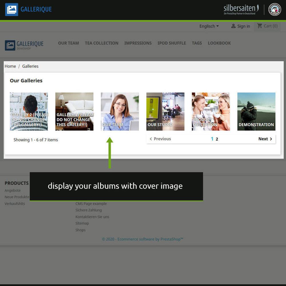 module - Slider & Gallerie - Gallerique - gallerie di immagini con numerosi album - 9