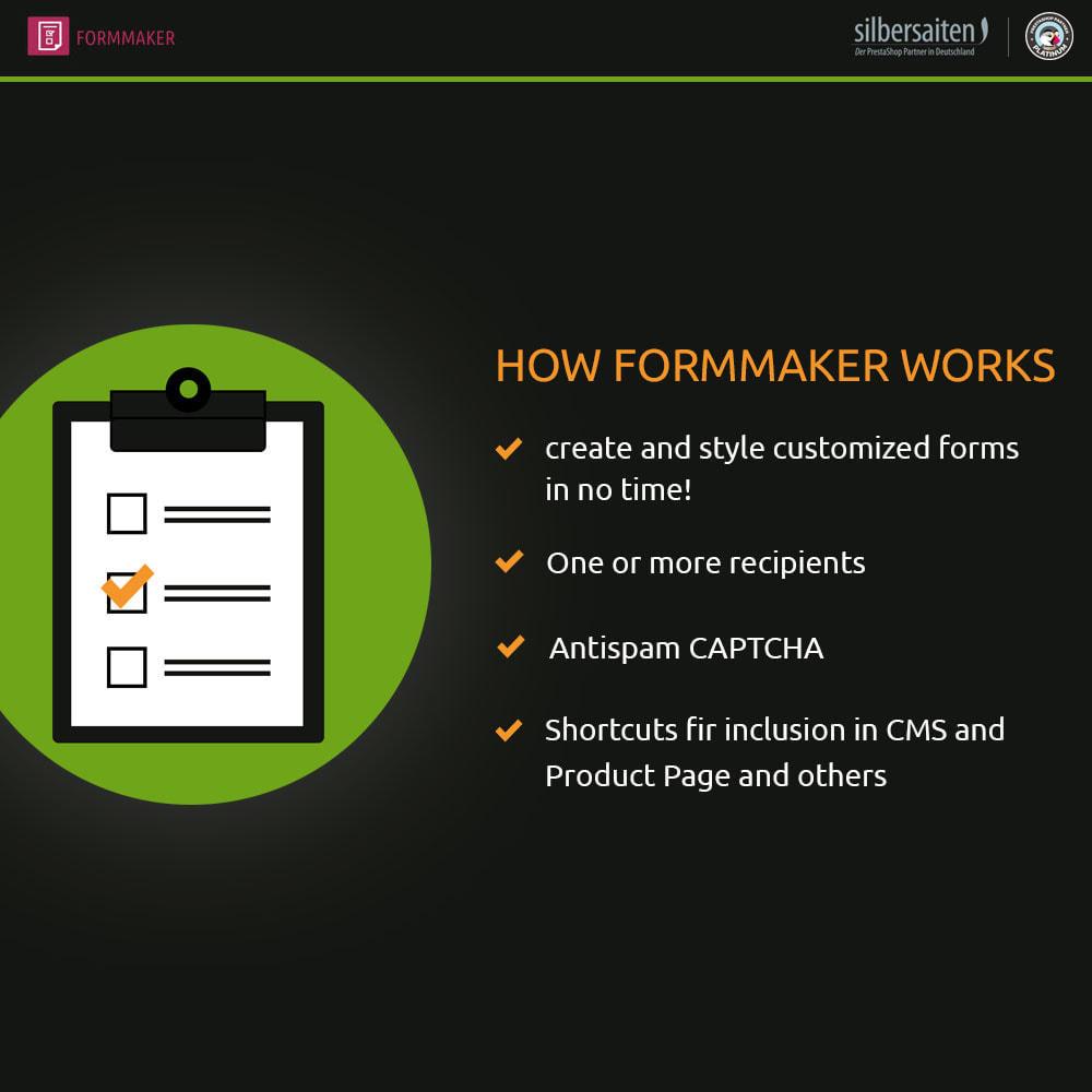 module - Formulário de contato & Pesquisas - Form Maker - formulários personalizados e de produtos - 1