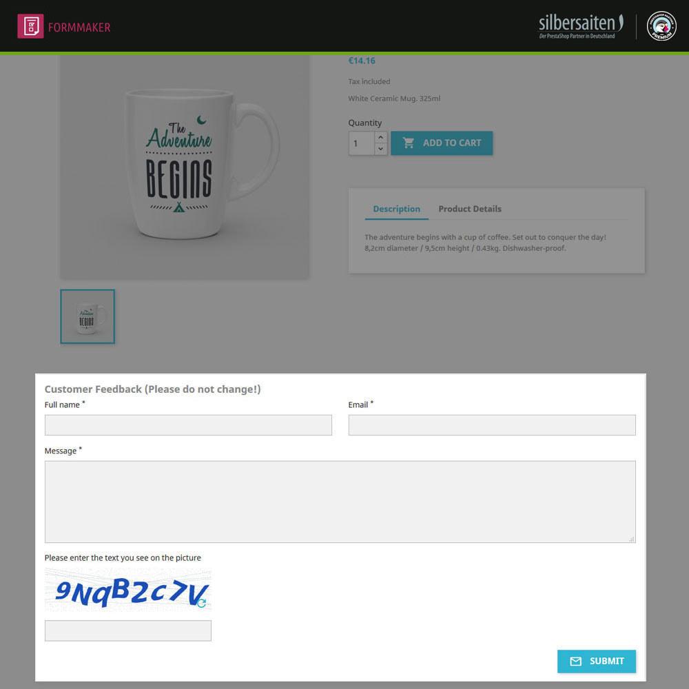 module - Formulário de contato & Pesquisas - Form Maker - formulários personalizados e de produtos - 2