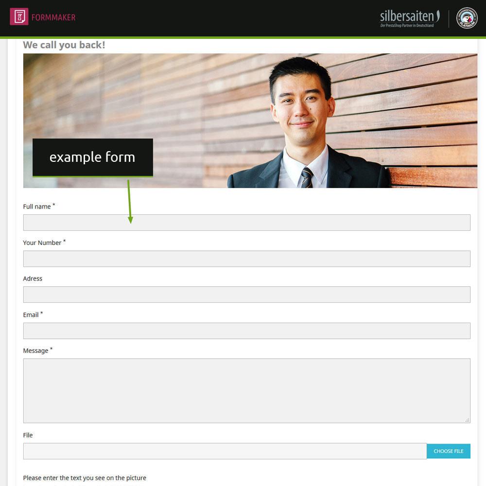 module - Formulário de contato & Pesquisas - Form Maker - formulários personalizados e de produtos - 3