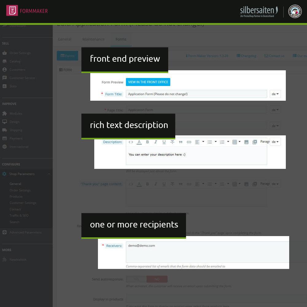 module - Formulário de contato & Pesquisas - Form Maker - formulários personalizados e de produtos - 5