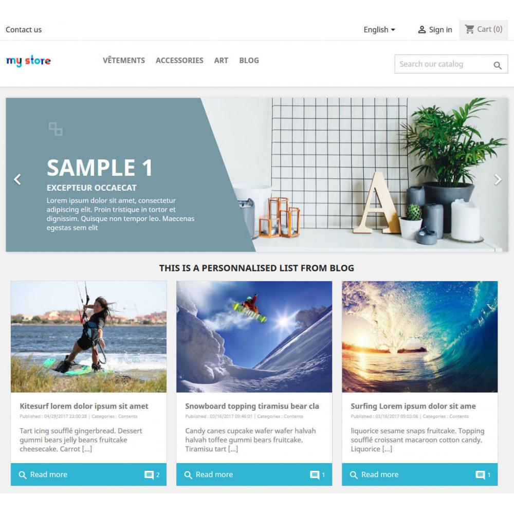 module - Блог, форумов и новостей - Prestablog : a professional blog for your shop - 2