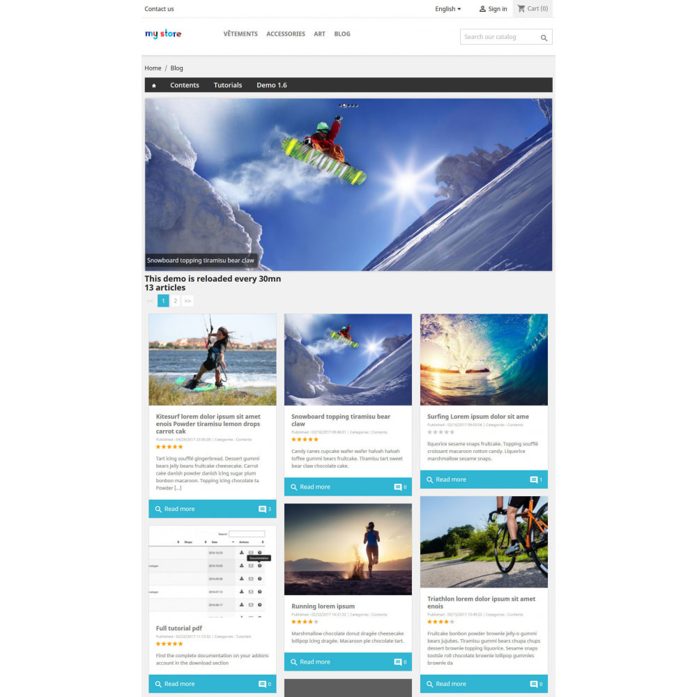 module - Блог, форумов и новостей - Prestablog : a professional blog for your shop - 5