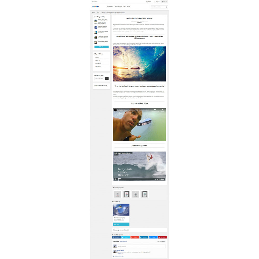 module - Блог, форумов и новостей - Prestablog : a professional blog for your shop - 6