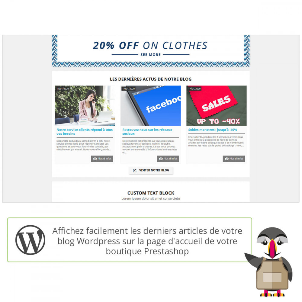 module - Blog, Forum & Actualités - Mes actus Wordpress - 1
