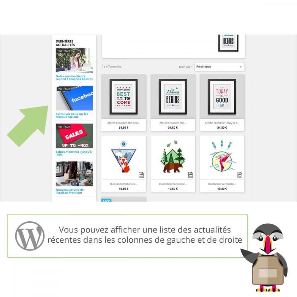 module - Blog, Forum & Actualités - Mes actus Wordpress - 2