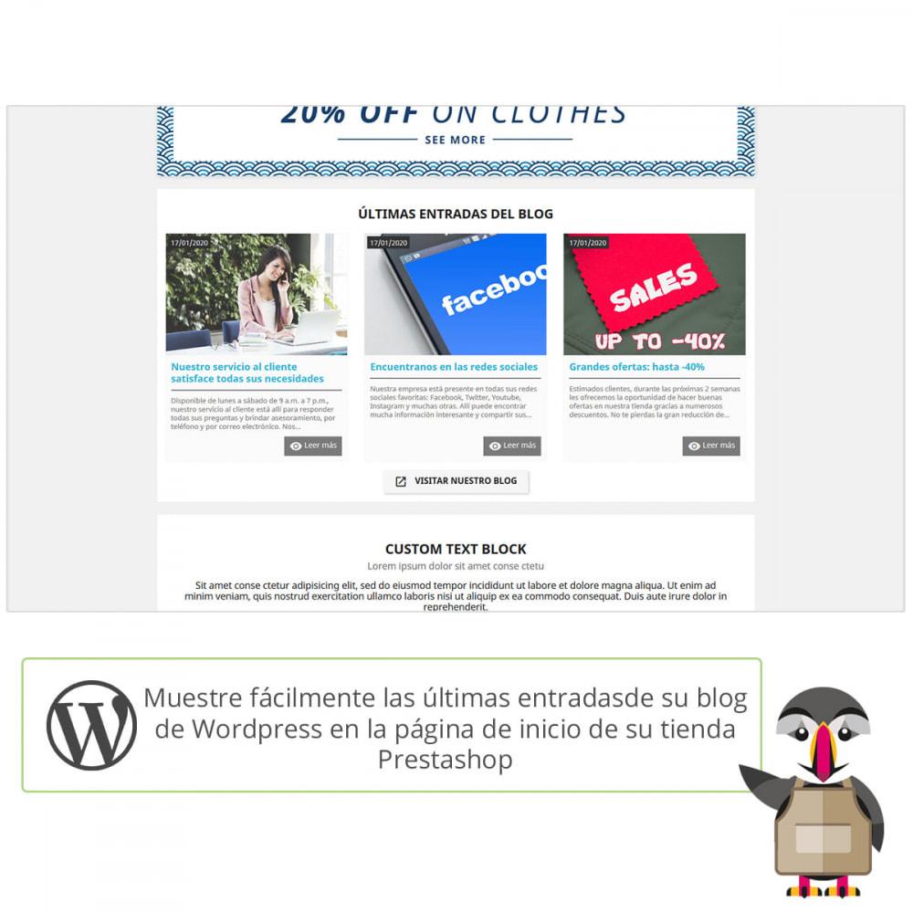 module - Blog, Foro y Noticias - Mis entradas de Wordpress - 1