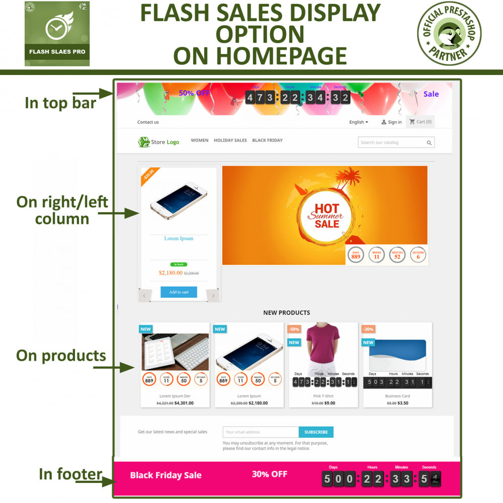 module - Flash & Private Sales - Flash Sales Pro - Discount with Countdown Timer - 3
