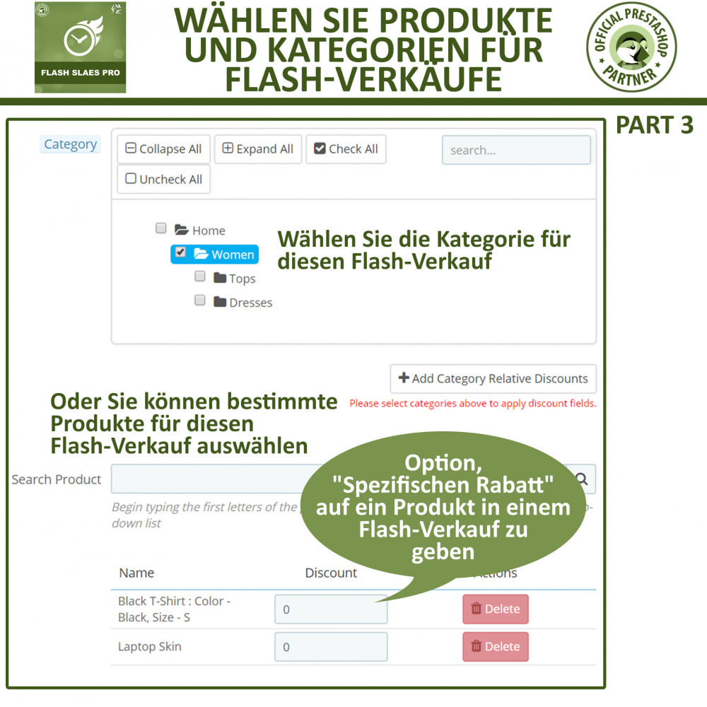 module - Flash & Private Sales - Flash Sales Pro - Werbeverkauf mit Countdown-Timer - 12