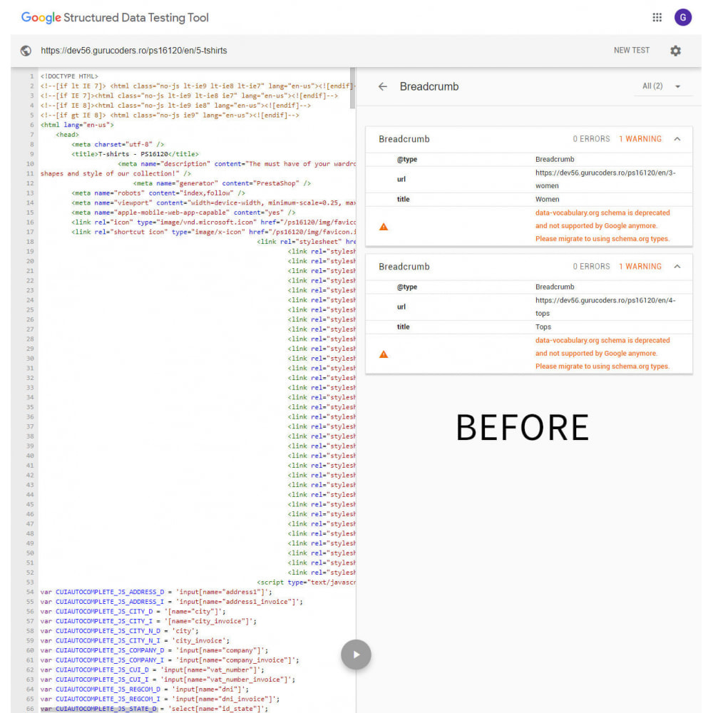 module - Естественная поисковая оптимизация - Google Breadcrumb Schema - 1