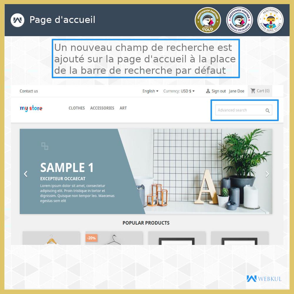 module - Recherche & Filtres - Recherche Avancée - 1