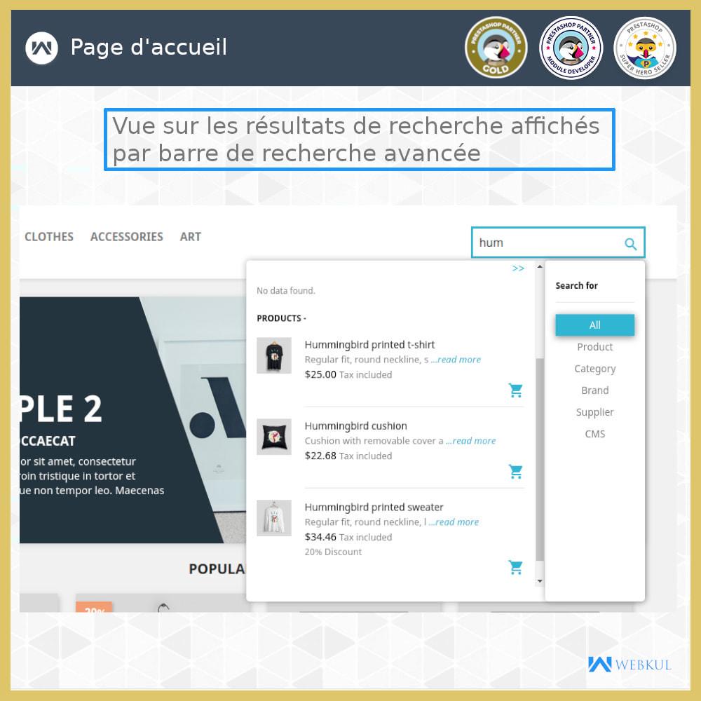 module - Recherche & Filtres - Recherche Avancée - 2