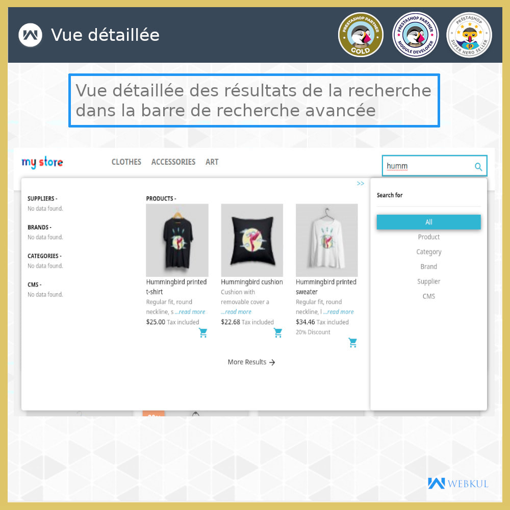 module - Recherche & Filtres - Recherche Avancée - 4