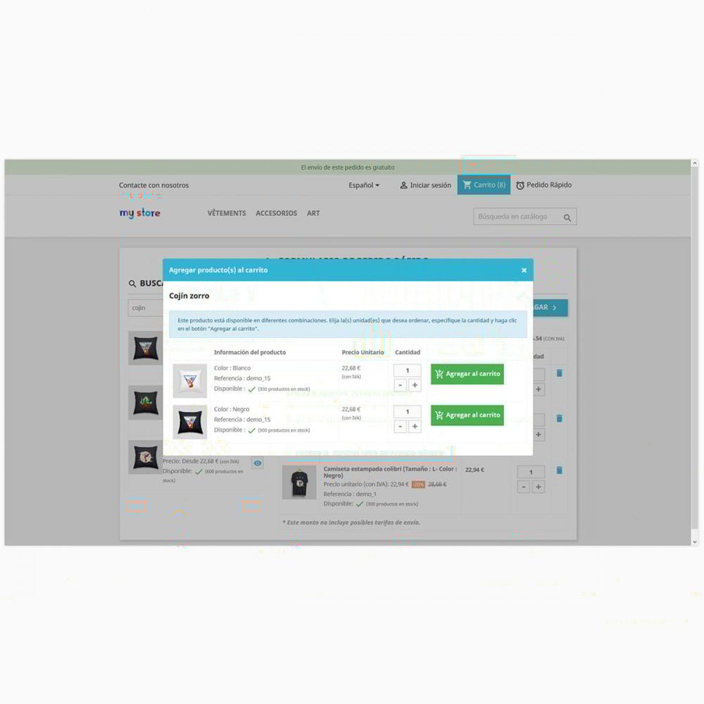 module - Proceso rápido de compra - Formulario de pedido rápido y fácil - 4