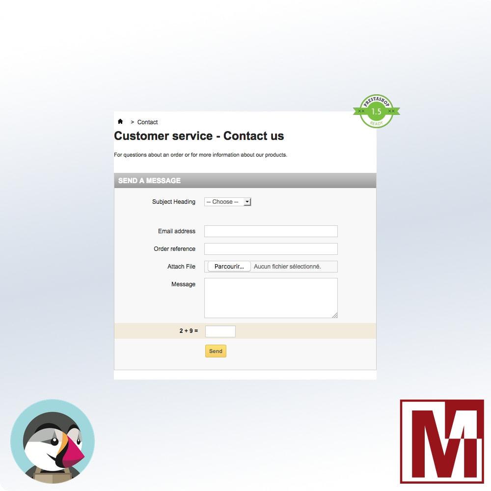 module - Sicherheit & Berechtigungen - Mathematical Captcha, the best security solution - 4