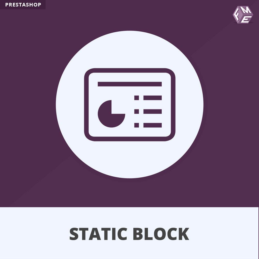 module - Bloques, Pestañas y Banners - Bloques estáticos, Añadir HTML, texto, bloques de medio - 1