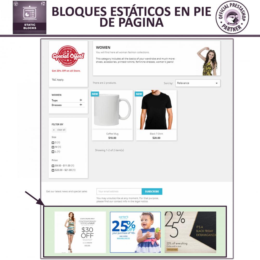 module - Bloques, Pestañas y Banners - Bloques estáticos, Añadir HTML, texto, bloques de medio - 4