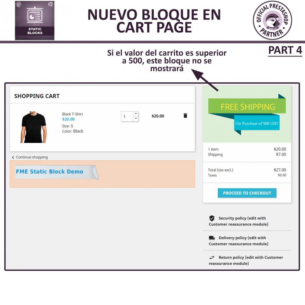 module - Bloques, Pestañas y Banners - Bloques estáticos, Añadir HTML, texto, bloques de medio - 10