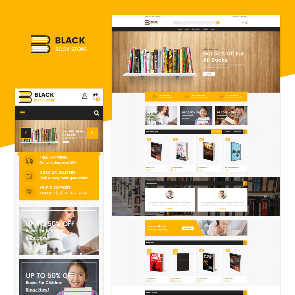 theme - Kunst & Cultuur - Boek - Responsive Store - 1